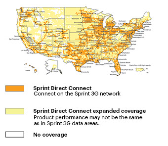 Sprint Services - Sprint Direct Connect Coverage